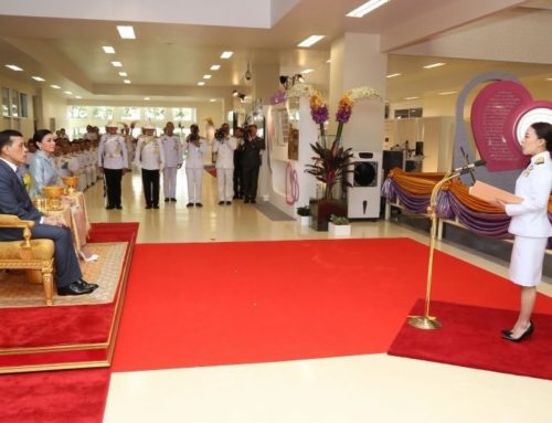 """His Majesty King Maha Vajiralongkorn Phra Vajiraklaochaoyuhua and Her Majesty Queen Suthida Bajrasudhabimalalakshana preside over the opening ceremony of """"the Good Health Good Heart Project"""" and bestow the medical tools and the royal visit to bedridden inmates at the Medical Correctional Institution."""